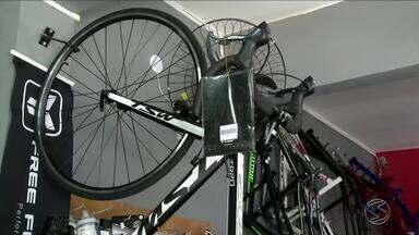 Venda de bicicletas aumentam no Sul do Rio - Transporte já chega a 70 milhões no Brasil.