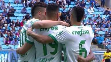 Os gols de Grêmio 1 x 3 Palmeiras pela 30ª rodada do Brasileirão 2017 - Gol do Palmeiras! Dudu completa o passe de Mayke e faz o terceiro aos 18' do 2º Tempo