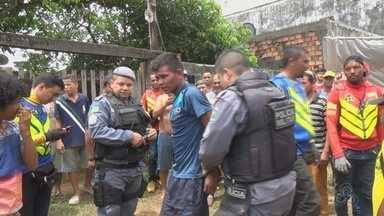 Homem é espancado por populares após roubar residência em Oiapoque, no Amapá - Geovane Martins é acusado de vários assaltos no município. Polícia apreendeu com ele uma faca e bicicleta.