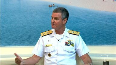 Vice-almirante da Marinha fala sobre ações de segurança na navegação - A marinha do brasil está reforçando suas ações para garantir a segurança no trânsito fluvial e dos passageiros.