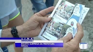 Moradores de Atibaia estão reclamando de cobrança para asfaltamento - Boletos estão chegando pelos Correios.