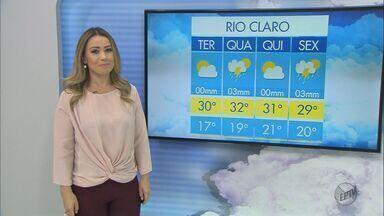 Confira a previsão do tempo para São Carlos e região nesta terça-feira (24) - Confira a previsão do tempo para São Carlos e região nesta terça-feira (24).