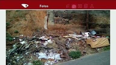 Moradores reclamam de sujeira em bairro de Cachoeiro, ES - Prefeitura disse que vai fazer limpeza no Alto Amarelo nos próximos dias.