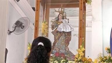 População de Ladário comemora dia da padroeira da cidade, Nossa Senhora dos Remédios - A equipe está desde cedo acompanhando a programação do Dia de Nossa Senhora dos Remédios, em Ladário.