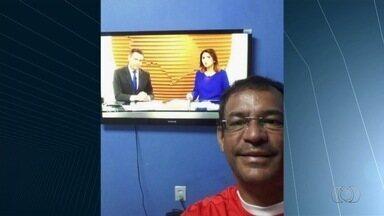 """Telespectadores enviam fotos para o quadro """"Tô no BDG"""" - Eles acordam cedinho para não perder o telejornal."""
