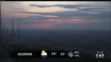 Confira a previsão do tempo para Goiás nesta quarta-feira (25) - Temperatura varia entre 24ºC e 33ºC.