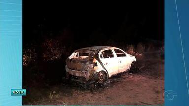 Carro de sargento da PM assassinado é encontrado carbonizado em Messias - Corpo do sargento Célio Cícero Valdemar foi encontrado em Flexeiras.