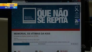 Com baixa adesão, campanha para memorial a vítimas da Kiss tem nova meta - Assista ao vídeo.