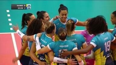 Melhores momentos: Valinhos 0 x 3 Sesc-RJ pela Superliga de vôlei feminina