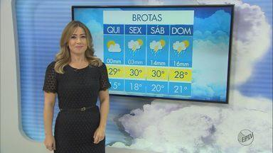 Veja a previsão do tempo para esta quinta-feira (2) - Veja o clima e as temperaturas para a região Central.