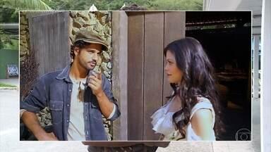 Vitória Strada entrega truque da barba de Bruno Cabrerizo - Atriz conta que barba de Bruno é branca