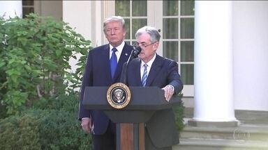 Donald Trump muda o comando do Banco Central americano - Desde a 2ª GM, nenhum presidente deixou de dar um segundo mandato.Jerome Powell, o novo líder, faz parte do conselho do FED.