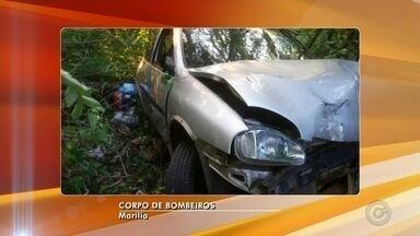 Motorista fica ferido após carro cair de ribanceira em Ocauçu - Um motorista ficou ferido após perder o controle da direção do carro, que caiu de uma ribanceira com aproximadamente 20 metros de altura, em Ocauçu.