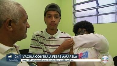 Mais 150 mil doses da vacina contra febre amarela são distribuídas em Guarulhos - Em Guarulhos, a vacinação contra a febre amarela entra em uma nova etapa. A partir desta sexta-feira (3), mais nove UBSs passam a vacinar a população.