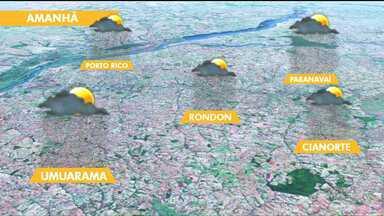 Defesa Civil alerta para temporais no noroeste - A chuva deve chegar à região nesta sexta-feira