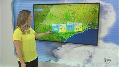 Confira a previsão do tempo em São Carlos e região - Confira a previsão do tempo em São Carlos e região.