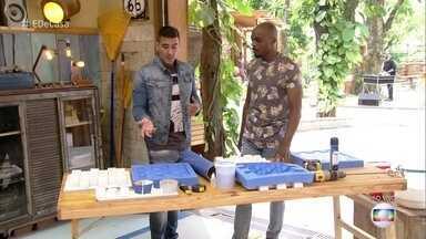 Edgar Moraes ensina como fazer um painel com tijolo 3D - Tijolo é feito de gesso e o molde pode ter diversos formatos
