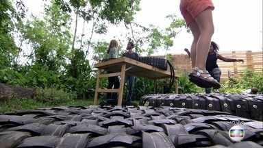 Daniel Beato cria brinquedos sustentáveis - Designer ensina a fazer um pula-pula com pneu reciclado