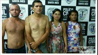 Polícia Civil intensifica combate a criminalidade em Santa Inês - Dois homens e duas mulheres suspeitos de fazerem parte de uma organização criminosa especializada em a assaltos a bancos foram presos.