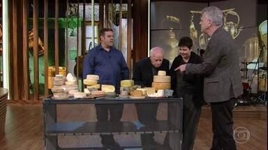 Bial promove uma degustação de queijos e debate legislação com convidados - Roberta Sudbrack prepara surpresa para a plateia