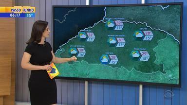 Tempo: Noroeste do RS pode receber chuva nesta terça-feira (7) - Veja a previsão do tempo.