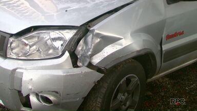 Bandidos atiram contra casal em tentativa de assalto na BR-277 - Tiro feriu a mulher de raspão.