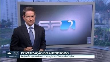 Vereadores da capital aprovam a privatização do autódromo de Interlagos - Os vereadores da capital aprovaram agora há pouco, em primeira votação, a privatização do autódromo de Interlagos.