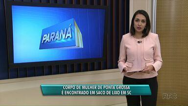 Corpo de mulher que vivia em Ponta Grossa é encontrado em um saco de lixo em Florianópolis - A polícia ainda não tem suspeitos pela morte de Mayara Correia dos Santos.
