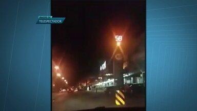 Barreira eletrônica deixa motoristas confusos no Paranoá - O Detran informou que o problema foi provocado por uma descarga elétrica e que nenhum motoristas foi multado.