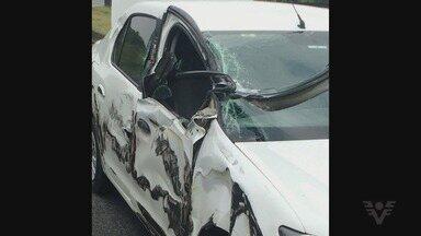 Prefeito de Cananeia se envolve em acidente em Juquitiba - Além dele, o motorista e dois diretores estavam no carro. Ninguém ficou ferido.