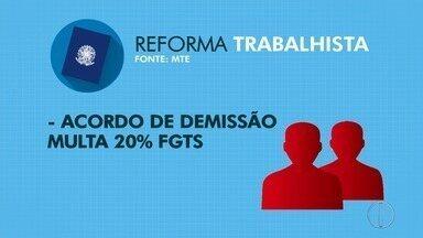 Reforma trabalhista causa protesto no centro de Campos, no RJ, nesta sexta-feira (10) - Assista a seguir.