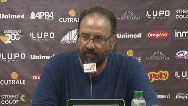 Técnico PC de Oliveira fala sobre campanha da Ferroviária na Copa Paulista - Jogador Danilo Sacramento também comentou durante coletiva de imprensa.