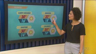 Feriado de muito calor na região de Maringá - Na sexta e sábado deve chover na região