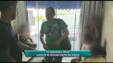 Ex-vereador é preso suspeito de aplicar golpes em idosos - Ele foi preso em flagrante quando se reunia com três famílias em Porto Rico.