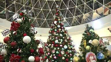 Shopping Paralela inaugura decoração natalina inspirada na magia dos contos de fada - Criançada aproveita a oportunidade para fazer pedidos para o Bom Velhinho, que chegou ao local de rapel.