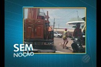 'Sem Noção' flagra caminhão lotado transportando mudança - O vídeo foi enviado pelo telespectador Marcos Sintra.