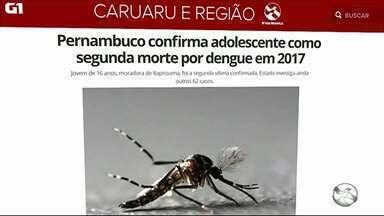 Pernambuco confirma adolescente como segunda morte por dengue em 2017 - Jovem de 16 anos, moradora de Itapissuma, foi a segunda vítima confirmada. Estado investiga ainda outros 62 casos.