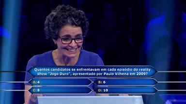 Jaqueline Castro chega até a pergunta que vale meio milhão - Huck fica nervoso junto com a participante do 'Quem Quer Ser um Milionário'