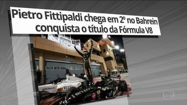 Pietro Fittipaldi conquista título da Fórmula V8 - Piloto chegou em 2º lugar no Bahrein.