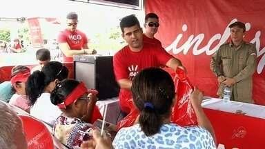 Ação Verdes Mares tem manhã de serviços em Santa Quitéria - Uma multidão pôde acompanhar as ações do evento no interior do Ceará.