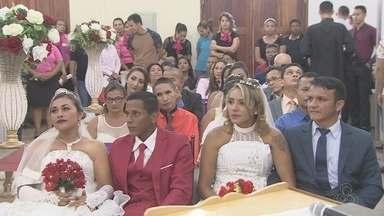 """Penitenciária do AP tem mais uma edição do projeto Casamento na Comunidade, do Tjap - Ao todo, 16 casais disseram o famoso """"sim"""" na sexta-feira (17)."""