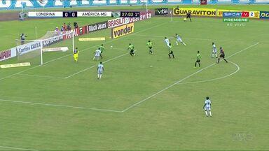 Confira os principais momentos do jogo entre Londrina e América - A partida foi às 17h no estádio do Café e terminou em 0x0.