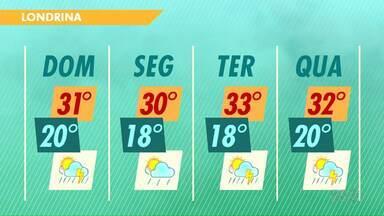 Meteorologia prevê tempo instável no domingo (19) - O começo da semana também será chuvoso de acordo com a previsão.
