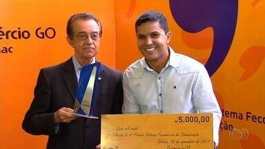 TV Anhanguera é premiada na 9ª edição do prêmio Fecomércio - Reportagem da emissora ganhou o primeiro lugar.