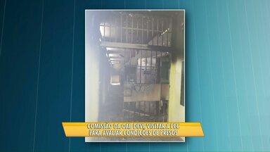 Comissão de Direitos Humanos visita PEC - O medo da comissão é que os detentos se rebelem novamente.