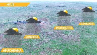 Semana de tempo estável na maioria das cidades do estado - Segundo a meteorologia, deve chover de forma rápida e isolada.