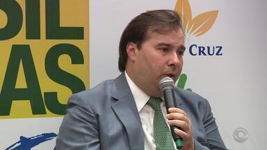 Rodrigo Maia defende a Reforma da Previdência durante visita a Porto Alegre - Assista ao vídeo.