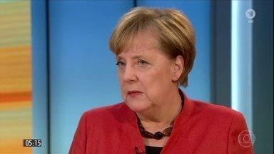 Fracasso em negociações pode forçar convocação de eleições na Alemanha - Fracassaram as negociações para a formação de um governo de coalizão e a primeira-ministra, Angela Merkel, pode ser forçada a convocar novas eleições.
