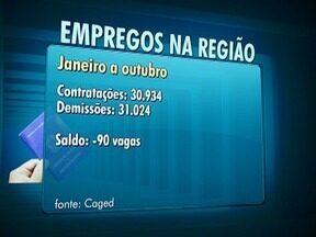 Ministério do Trabalho divulga números do emprego na região - Comércio fechou mais de 500 postos durante o ano.