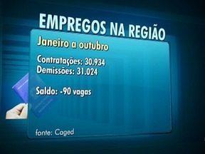 Empregos formais registram queda na região de Presidente Prudente - Dados foram divulgados pelo Caged.